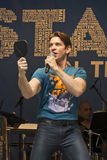 """Andy Karl Performs at 2015 Stars In The Alley. Tony-nominated actor Andy Karl plays a narcissist and sings Mine, from On the 20th Century, at """"Stars In The Stock Photos"""