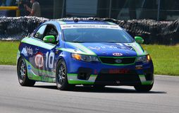 Andy Lally races the KIA Forte Royalty Free Stock Photography
