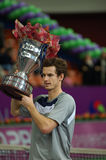 andy murray öppen spbvinnare 2008 Royaltyfria Foton