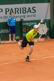 Andy Murray στη δεύτερη στρογγυλή αντιστοιχία, Roland Garros 2014 Στοκ εικόνα με δικαίωμα ελεύθερης χρήσης