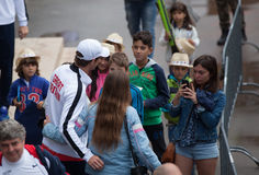 Andy Murray στο φλυτζάνι του Νταίηβις, ΒΕΛΙΓΡΑΔΙ, ΣΕΡΒΙΑ στις 16 Ιουλίου 2016 Στοκ Εικόνες