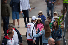 Andy Murray στο φλυτζάνι του Νταίηβις, ΒΕΛΙΓΡΑΔΙ, ΣΕΡΒΙΑ στις 16 Ιουλίου 2016 Στοκ φωτογραφίες με δικαίωμα ελεύθερης χρήσης