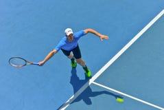 Andy Murray bawić się w australianie open Zdjęcia Royalty Free