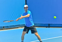 Andy Murray bawić się w australianie open Zdjęcie Stock