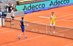 Andy Murray bij ATP Mutua Open Madrid Stock Foto