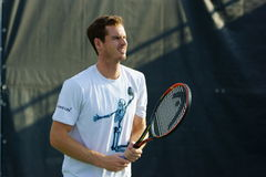 Andy Murray (GBR). MONTREAL, QUEBEC, CANADA - AUGUST 14, 2015: Andy Murray (GBR) during practice at Coupe Rogers in Montreal on August 14, 2015 Royalty Free Stock Photography