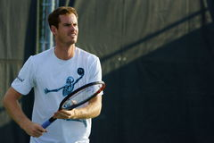 Andy Murray (GBR). MONTREAL, QUEBEC, CANADA - AUGUST 14, 2015: Andy Murray (GBR) during practice at Coupe Rogers in Montreal on August 14, 2015 Royalty Free Stock Image