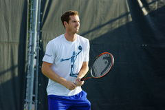 Andy Murray (GBR). MONTREAL, QUEBEC, CANADA - AUGUST 14, 2015: Andy Murray (GBR) during practice at Coupe Rogers in Montreal on August 14, 2015 Royalty Free Stock Photo