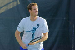 Andy Murray (GBR). MONTREAL, QUEBEC, CANADA - AUGUST 14, 2015: Andy Murray (GBR) during practice at Coupe Rogers in Montreal on August 14, 2015 Stock Photo