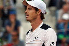 Andy Murray (GBR). ROME, ITALY - MAY 12, 2016: Andy Murray (GBR) during his match against Jeremy Chardy (FRA) at the Internazionali BNL d'Italia in Rome, Italy Stock Photos