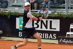 Andy Murray (GBR). ROME, ITALY - MAY 11, 2016: Andy Murray (GBR) during his match against Kukushkin at the Internazionali BNL d'Italia in Rome, Italy Royalty Free Stock Photography