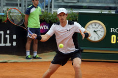 Andy Murray (GBR). ROME, ITALY - MAY 11, 2016: Andy Murray (GBR) during his match against Mikhail Kukushkin at the Internazionali BNL d'Italia in Rome, Italy Stock Image