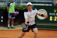 Andy Murray (GBR). ROME, ITALY - MAY 11, 2016: Andy Murray (GBR) during his match against Mikhail Kukushkin at the Internazionali BNL d'Italia in Rome, Italy Stock Photo