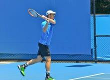 Andy Murray-het spelen in het Australian Open Stock Afbeeldingen