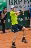 Andy Murray no segundo fósforo do círculo, Roland Garros 2014 Fotografia de Stock