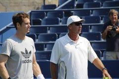Andy Murray och Ivan Lendl Royaltyfri Fotografi