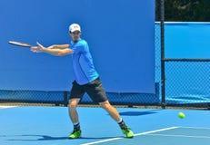 Andy Murray som spelar i det australiskt, öppnar Royaltyfria Bilder
