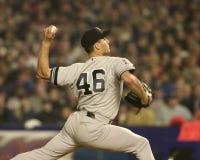 Andy Pettitte, gioco 5, 2000 campionati di baseball Fotografia Stock Libera da Diritti