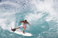 andy prasuje pro surfera Zdjęcie Royalty Free