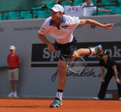 Andy Roddick Tennis  2012. 2012 World Team Cup. This photo shows US American tennis legend Andy Roddick during his singles match with Tomas Berdych of the Czech Royalty Free Stock Image