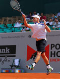Andy Roddick Tennis  2012. 2012 World Team Cup. This photo shows US American tennis legend Andy Roddick during his singles match with Tomas Berdych of the Czech Royalty Free Stock Photos