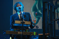 Andy Ross vocals, guitar and keyboards player. ORLANDO, FLORIDA – JANUARY 15: Andy Ross vocals, guitar and keyboards player of rock band OK Go performs at IBM Stock Photography