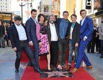 Andy Serkis et Richard Armitage et Evangeline Lilly et Peter Jackson et Orlando Bloom et Elijah Wood et Lee Pace Photo stock