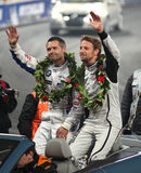 Andy (verlaten) Priaulx en (juist) Jenson Button royalty-vrije stock fotografie