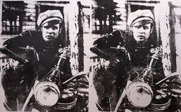 Andy Warhol--A a B y detrás otra vez en Whitney Museum fotos de archivo libres de regalías