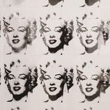 Andy Warhol, Marilyn Monroe in black and white, Moderna Museet. Andy Warhol, Marilyn Monroe in Black and White Twenty-Five Marilyn, is a work of art from 1962 royalty free stock photography
