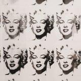 Andy Warhol, Marilyn Monroe en blanco y negro, Moderna Museet fotografía de archivo libre de regalías