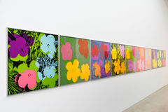Andy Warhol obrazy Przy Mumok muzeum Zdjęcie Stock