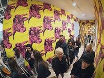 Andy Warhol--Od A b Znowu I plecy przy Whitney muzeum fotografia royalty free