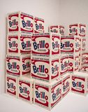 Andy Warhol--From A To B And Back Again at Whitney Museum. Warhol`s Brillo Box Sculptures from 1969 demonstrated the power of imagery used by advertisers to sell stock photos