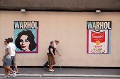 Andy Warhol wystawa Obrazy Stock