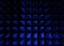 Anechoic. Picture of a wall inside an anechoic chamber Royalty Free Stock Photos