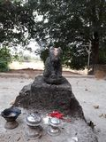 Aneciant old nandi Idol of stone royalty free stock photos