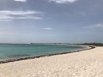 Anegada plaża przy Brytyjskimi Dziewiczymi wyspami Obraz Royalty Free