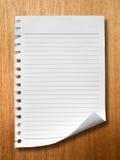 aneger δάσος εγγράφου σημειώ&sigm Στοκ εικόνα με δικαίωμα ελεύθερης χρήσης