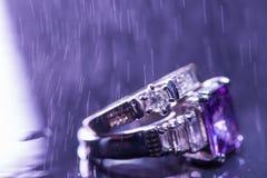 Aneis de noivado Fotos de Stock Royalty Free