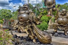 Anek Kuson Sala芭达亚, Viharn Sien是美好的中国人t 免版税图库摄影