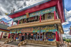 Anek Kuson Sala Pattaya,The Viharn Sien is a beautiful Chinese t royalty free stock images