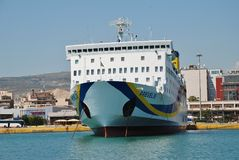 Prevelis ferry boat, Athens Royalty Free Stock Images