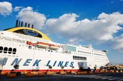 Anek Lines no porto de Piraeus fotos de stock