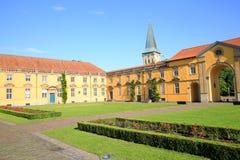 Aneks Grodowy Osnabrueck w Niskim Saxony i podwórze, Niemcy zdjęcie royalty free