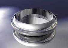 anel 3D de prata Foto de Stock