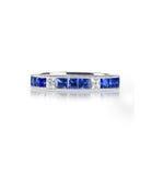 Anel azul de gemstone imagem de stock