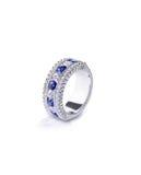 Anel azul de gemstone fotografia de stock royalty free
