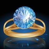 Anel brilhante de Diamond Shiny. Vetor Foto de Stock