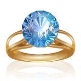 Anel brilhante de Diamond Shiny. Vetor Imagem de Stock Royalty Free